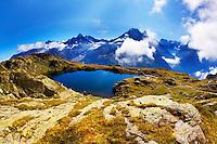 Mountain impression Lacs des Cheserys - Europe, France, Haute Savoie, Aiguilles Rouges, Lacs des Chesery - Noon - September 2008