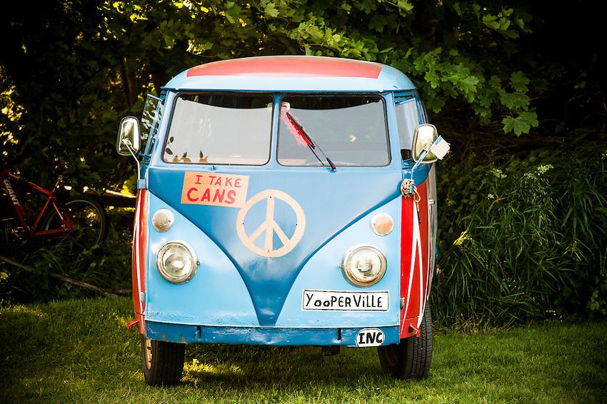 A Volkswagen bus