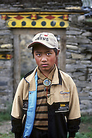 Boy in Jesus hat, Tagong, Kham, Eastern Tibet, 2005