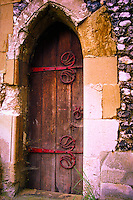 Norman Church Door, Clewer, Windsor, England