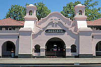 Mission RR Stations: Restored Santa Fe Station, Modesto. Elevation.