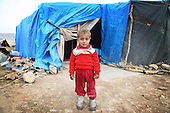 ARBAT, IRAQ: Yahya Asaad, 2, from Derzor, Syria, is pictured in a refugee camp in Arbat, Iraq. ..The semi-autonomous region of Iraqi Kurdistan has accepted refugees from the conflict in Syria into several camps. Arbat lies near Sulaimaniyah in northeastern Iraq, approximately 500 kilometres from the Syrian border...Photo by Besaran Tofiq/Metrography