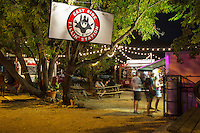 East Austin started the food trailer craze bringing unique and delectable food menus to a hungry and curious populous of Austin foodies - Stock image.
