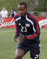 New England Revolution midfielder Joseph Niouky (23).  The New England Revolution drew FC Dallas 1-1, at Gillette Stadium on May 1, 2010