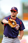6 March 2006: Bill Bray, pitcher for the Washington Nationals, warms up prior to a Spring Training game against the Los Angeles Dodgers. The Nationals and Dodgers played to a scoreless tie at Holeman Stadium, in Vero Beach Florida...Mandatory Photo Credit: Ed Wolfstein..