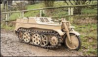 Nazi Trike that think's its a tank.