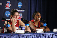 25 March 2006: Brooke Smith and Candice Wiggins during Stanford's 88-74 win over the Oklahoma Sooners during the NCAA Women's Basketball tournament in San Antonio, TX.