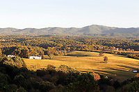 A scenic view of Albemarle County,  Virginia taken from the Blue Ridge Parkway. Photo/Andrew Shurtleff