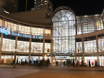 Toronto Eaton Centre at night during Christmas holidays season. Toronto, Ontario, Canada.