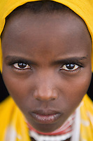 Portrait of a woman villager in Awash, Afar region in Ethiopia