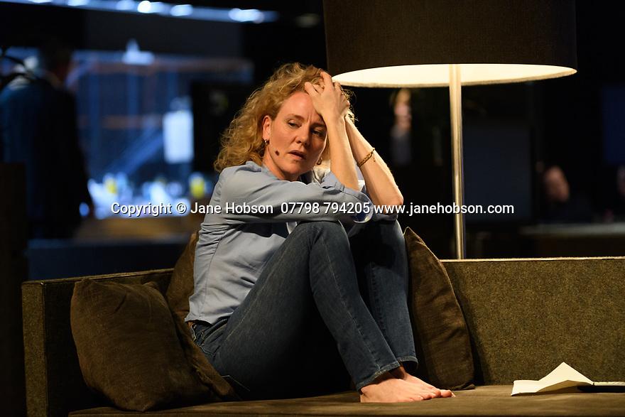 Toneelgroep Amsterdam presents<br /> &quot;Roman Tragedies&quot;, a seamless interpretation of William Shakespeare's &quot;Coriolanus&quot;, Julius Caesar&quot; and &quot;Anthony and Cleopatra&quot;, in the Barbican Theatre. The Barbican first introduced Toneelgroep Amsterdam to UK audiences in 2009 with this same production. Picture shows: Coriolanus - Janni Goslinga (Virgilia)