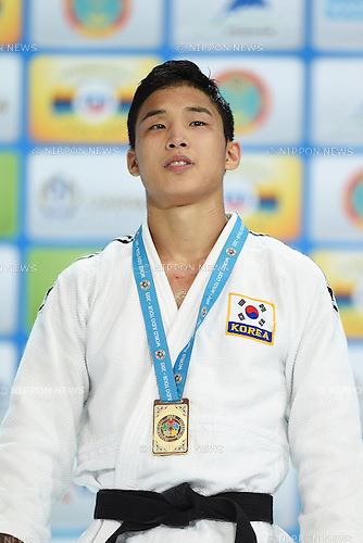 Baul An (KOR), AUGUST 25, 2015 - Judo : World Judo Championships Astana 2015 Men's -66kg Medal Ceremony at Alau Ice Palace in Astana, Kazakhstan. (Photo by AFLO SPORT)