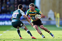 Alex Waller of Northampton Saints in possession. Aviva Premiership match, between Northampton Saints and Leicester Tigers on April 16, 2016 at Franklin's Gardens in Northampton, England. Photo by: Patrick Khachfe / JMP