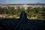 Photo shows the view from the top floor of the main keep of Matsue Castle, Matsue City, Shimane Prefecture, Japan on 26 June 2011. The city's castle, which is one of only 12 originals that remain from medieval times, this year celebrates the 400th anniversary of its completion..Photographer: Robert Gilhooly