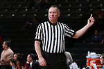 28 January 2016: Referee Bryan Brunette. The Wake Forest University Demon Deacons hosted the Florida State University Seminoles at Lawrence Joel Veterans Memorial Coliseum in Winston-Salem, North Carolina in a 2015-16 NCAA Division I Women's Basketball game. Florida State won the game 96-55.