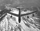 The Boeing YB-52 was the second prototype B-52 aircraft built and was virtually identical to the XB-52.  The YB-52 was initially ordered as the second XB-52, but various changes incorporated into the aircraft on the assembly line warranted a designation change. The aircraft was completed and rolled out for ground testing on 15 March 1952. The first flight of the YB-52 was one month later on 15 April. The XB-52 wings had been damaged during its ground test phase, so the YB-52 was the first B-52-type to fly.  Flight testing of the YB-52 (and XB-52 starting 2 October 1952) showed the aircraft to be very fast for its size. In fact, in early September 1954, the YB-52 made a speed run from the Boeing facilities in Seattle, Washington to Wright-Patterson AFB, Ohio averaging nearly 625 mph.   General Curtis LeMay, Commander of the Strategic Air Command, was eager to get the B-52 into production; however, he was strongly opposed to the tandem seating of the pilot and copilot and essentially insisted that the flightdeck be redesigned. Boeing designers did just that and changed the entire forward fuselage so the flight crew were seated side-by-side. All production B-52s beginning with the -A model had the new design, only the two prototype aircraft had the B-47 style tandem canopy.  The YB-52 was eventually retired in the late 1950s to the United States Air Force (USAF) Museum. The aircraft was scrapped in the mid-1960s in a drive (non-USAF/USAF Museum) to get rid of excess military hardware. .Credit: U.S. Air Force via CNP
