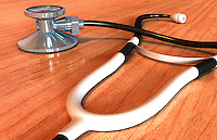 An image of a stethoscope. Royalty Free