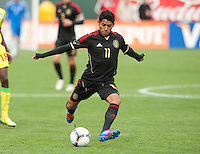 San Francisco, California - Saturday March 17, 2012: Javier Aquino in in action during the Mexico vs Senegal U23 in final Olympic qualifying tuneup. Mexico defeated Senegal 2-1