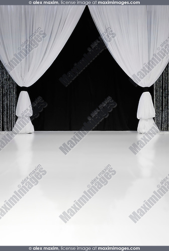 White stage curtain stock photo fashion commercial fine art stock