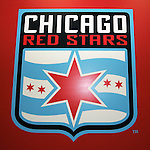 16 January 2009: Chicago Red Stars logo. The 2009 inaugural Womens Pro Soccer (WPS) Draft was held at the Convention Center in St. Louis, Missouri in conjuction with the National Soccer Coaches Association of America's annual convention.