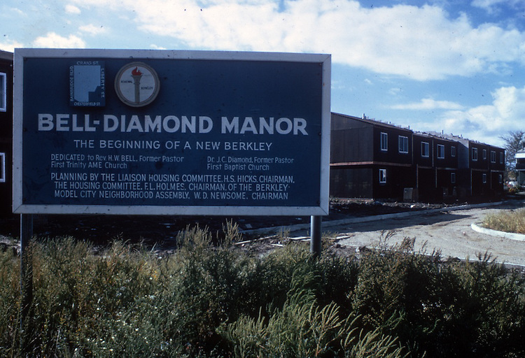 1974 January...Redevelopment...Berkley 2 (A-1-5).Bell Diamond sign...NEG#.NRHA# 2635..
