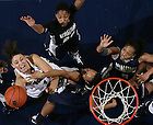 Jan. 18, 2011; Natalie Achonwa (11) goes up for a shot against Georgetown...Photo by Matt Cashore/University of Notre Dame