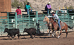 The Nevada Star team competes in the team roping event at the Minden Ranch Rodeo on Saturday, July 21, 2012..Photo by Cathleen Allison