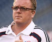 New England Revolution head coach Steve Nicol.  The New England Revolution drew FC Dallas 1-1, at Gillette Stadium on May 1, 2010