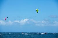 Kite boarding<br /> St. John<br /> US Virgin Islands