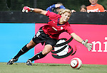 Hope Solo, U.S. goalkeeper, during pregame warmups on Saturday, October 23rd, 2005 at Blackbaud Stadium in Charleston, South Carolina. The United States Women's National Team defeated Mexico 3-0 in an international women's friendly soccer match.