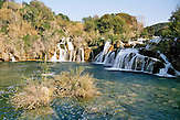 Krka Nationalpark und Wasserfaelle in Dalmatien Republik Kroatien  / Nacionalni Park Krka Republika Hrvatska / Krka National park and waterfalls in Dalmatia in the Republic of Croatia