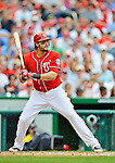 2 September 2012: Washington Nationals' outfielder Michael Morse in action against the St. Louis Cardinals at Nationals Park in Washington, DC. The Nationals edged out the visiting Cardinals 4-3, capping their 4-game series with three wins. Mandatory Credit: Ed Wolfstein Photo
