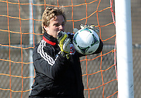 WASHINGTON, DC - February 06, 2012: Andrew Dykstra of DC United during a pre-season practice session at Long Bridge Park, in Arlington, Virginia on February 6, 2013.