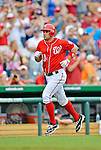 22 July 2012: Washington Nationals third baseman Ryan Zimmerman rounds the bases after hitting the first of two home runs for the day against the Atlanta Braves at Nationals Park in Washington, DC. The Nationals defeated the Braves 9-2 to split their 4-game weekend series. Mandatory Credit: Ed Wolfstein Photo