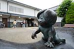 Shigeru Mizuki street in Sakaiminato, Tottori Prefecture, Japan..Photographer: Robert Gilhooly