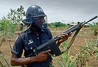 An armed policeman, Nigeria, Africa
