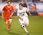 14 November 2008: Wake Forest's Corben Bone (10). The University of Virginia defeated Wake Forest 3-2 in two overtimes at WakeMed Stadium at WakeMed Soccer Park in Cary, NC in a men's ACC tournament semifinal game.