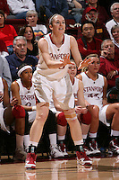 STANFORD, CA - FEBRUARY 7:  Hannah Donaghe of the Stanford Cardinal during Stanford's 77-39 win over USC on February 7, 2010 at Maples Pavilion in Stanford, California.