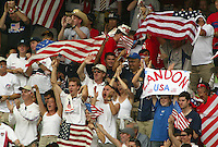 USA fans. The USA tied South Korea, 1-1, during the FIFA World Cup 2002 in Daegu, Korea.