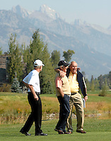 Arnold Palmer visits Teton Pines