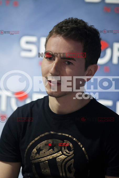Yamaha MotoGP rider Jorge Lorenzo during promotional brand press conference in Madrid, Spain. March 10, 2015. (ALTERPHOTOS/Victor Blanco) /NORTEphoto.com