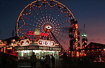 night Ferris wheel with ice cream parlor at Del Mar fair California, Ferris wheel, night Ferris wheel, ice cream parlor,California, West Coast of US, Golden State, 31st State, California, CA, Fine Art Photography by Ron Bennett, Fine Art, Fine Art photography, Art Photography, Copyright, RonBennettPhotography.com,