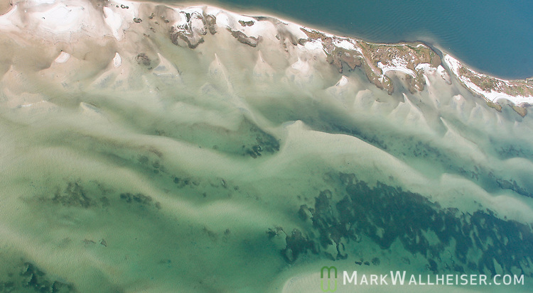 Underwater sand bars at Lanark Village along the Forgotten Coast in Franklin County southwest of Tallahassee, Florida.    (Mark Wallheiser/TallahasseeStock.com)