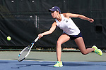 20 April 2016: Notre Dame's Julie Vrabel. The University of Notre Dame Fighting Irish played the University of Pittsburgh Panthers at the Cary Tennis Center in Cary, North Carolina in the first round of the Atlantic Coast Conference Women's Tennis Tournament. Notre Dame won the match 4-3.