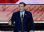 United States Senator Ted Cruz (Republican of Texas) makes remarks at the 2016 Republican National Convention held at the Quicken Loans Arena in Cleveland, Ohio on Wednesday, July 20, 2016.<br /> Credit: Ron Sachs / CNP<br /> (RESTRICTION: NO New York or New Jersey Newspapers or newspapers within a 75 mile radius of New York City)