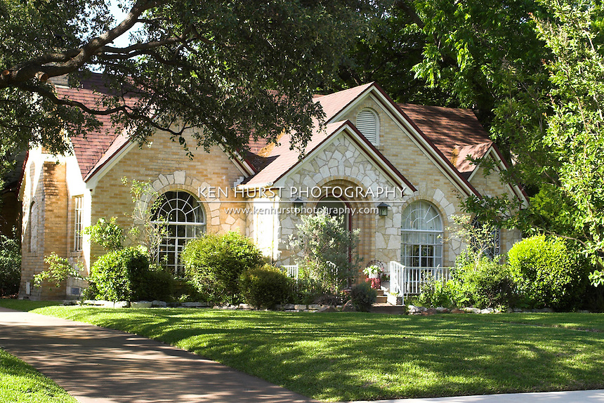 Beautiful white stone house ken hurst photography for Beautiful brick and stone homes