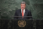 His Excellency Petro Poroshenko, President of Ukraine  <br /> General Assembly Seventieth session 9th plenary meeting: High-level plenary meeting of the (6th meeting)