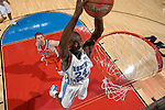 04 APR 2005: Forward Marvin Williams (24) of North Carolina slam dunks the ball during the Men's Division I Basketball Championships held at the Edward Jones Dome in St. Louis, MO. The University of North Carolina went on to defeat the University of Illinois 75-70 to claim the championship title. Photo: Ryan McKee/NCAA Photos