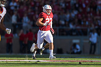Stanford, CA - September 17, 2016: Sean Barton<br />  during the Stanford vs USC football game at Stanford Stadium. The Cardinal defeated the Trojans 27-10.