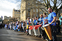 Jamma de Samba perform prior to the match. European Rugby Champions Cup match, between Bath Rugby and RC Toulon on January 23, 2016 at the Recreation Ground in Bath, England. Photo by: Patrick Khachfe / Onside Images